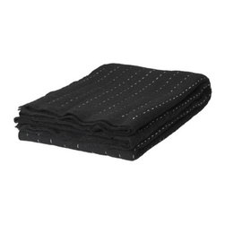 IKEA PS STICKA Bedspread/blanket - Bedspread/blanket, black