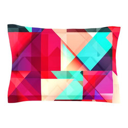 """Kess InHouse - Danny Ivan """"Still New"""" Red Pink Pillow Sham (Cotton, 30"""" x 20"""") - Pairing your already chic duvet cover with playful pillow shams is the perfect way to tie your bedroom together. There are endless possibilities to feed your artistic palette with these imaginative pillow shams. It will looks so elegant you won't want ruin the masterpiece you have created when you go to bed. Not only are these pillow shams nice to look at they are also made from a high quality cotton blend. They are so soft that they will elevate your sleep up to level that is beyond Cloud 9. We always print our goods with the highest quality printing process in order to maintain the integrity of the art that you are adeptly displaying. This means that you won't have to worry about your art fading or your sham loosing it's freshness."""