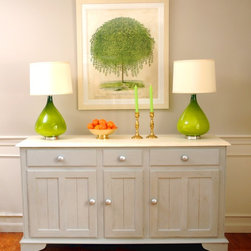 Custom Painted Furniture - A dated pine buffett re-purposed and update with Annie Sloan Chalk paint , Linda Holt photo