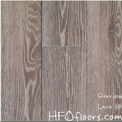 Garrison French Connection - French Connection Lava wire-brushed white oak hardwood. Available at HFOfloors.com.