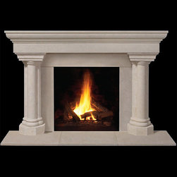 Torino Stone Fireplace Mantel - Channeling it's Italian roots, the Torino stone fireplace mantel is a regal addition to your living space. With stately columns and honed stone, it's a beauty in and out.