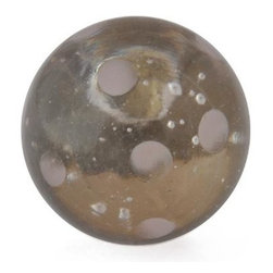 "Knobco - Polka Dotted Glass Knob, Clear knob with Pink Polka dots - Clear knob with Pink Polka dots glass knob. Unique glass knobs for your kitchen cabinets. 1.1"" in   diameter.   Includes screws for installation."