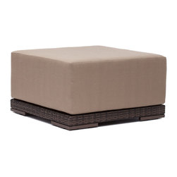 ZUO VIVA - Park Island Ottoman Brown - Sit in comfort on the Park Island Ottoman. Made from an aluminum frame with a polypropylene weave. The overstuffed cushions are UV and water resistant. Sink into the Park Island and enjoy!