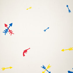 """The Make House - Guns and Arrows Wallpaper, Large Guns and Arrows Wallpaper - -Rolls:  27"""" x 15' untrimmed"""