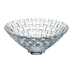 Nachtmann - Nachtmann Dancing Stars Bossa Nova Bowl Footed - Fine crystal, the ultimate in luxury for your home. This footed bowl has a wonderfully unique woven quality. Enjoy using it to serve with more style or simply leave it out to be admired on display.