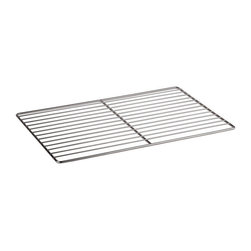 Paderno World Cuisine - 20 7/8 in. by 12 3/4 in. Stainless-steel Cooling Rack - This 20 7/8 Long by 12 3/4 Wide (Hotel Pan Size 1/1) Stainless-steel Cooling Rack is a necessity for any pastry chef for moving, cooling and storing pastries.