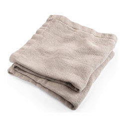 Brahms Mount - Brahms Mount - Natural Linen Blanket - Full - Made in USA - Linen blanket made in the USA by Brahms Mount of Maine. Flat-out luxurious offering the classic good looks and comfort of pure linen. Cool on hot, humid nights, warm and insulating in the winter, this heirloom-quality layer develops more drape, character and softness over time.
