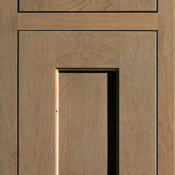 """Dura Supreme Cabinetry - Dura Supreme Cabinetry Monterey Inset Cabinet Door Style - Dura Supreme Cabinetry """"Monterey"""" inset cabinet door style in Cherry shown with Dura Supreme's """"Cashew"""" finish with concealed inset hinge. (With non-beaded frame)"""