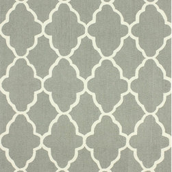 Nuloom - nuLOOM Handmade Wool Moroccan Trellis Grey Rug (5' x 8') - Invoke the feel and warmth of a country home with this stunning woolen trellis hand-hooked rug. Meticulously made using a petit point stitches construction,make your favorite space feel right at home.