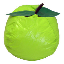 Gold Medal - Gold Medal Lime Small/Toddler Vinyl Bean Bag - Give the kiddo a place to flop down after a long day of playing house with this small vinyl bean bag chair that features a childproof closure to keep the filling where it should be. The fun and fruity design is a sure-fire hit with the younger set.
