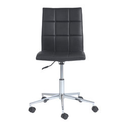 Eurostyle - Cyd Office Chair-Black - Roll out this sleek office chair to conduct your business in style. The seamless design allows you to easily maneuver around, plus when the day is done, you can keep the chair flush under the desktop, creating a neater workstation.