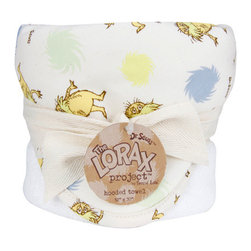 """Trend Lab - Bouquet Hooded Towel - Dr. Seuss The Lorax - Trend Lab's Dr. Seuss The Lorax Hooded Towel will keep your baby warm and dry after bath time. The unbleached terry towel features an unbleached cotton percale Lorax and Truffula tuft scatter print throughout the hood and trim in blue fog, sunshine yellow, honeydew, squash, and chocolate. Hooded Towel measures 32"""" x 30"""". Hooded Towel coordinates with the Dr. Seuss The Lorax collection by Trend Lab. Product sold under license from Dr. Seuss Enterprises, L.P. The Lorax Project is a multifaceted initiative that helps generate funding, raise awareness and inspire earth-friendly action by generations of passionate individuals worldwide. Trend Lab is proud to help save the earth for our little ones."""
