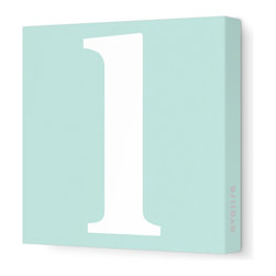 "Avalisa - Letter - Lower Case 'l' Stretched Wall Art, 12"" x 12"", Sea Green - Spell it out loud. These lowercase letters on stretched canvas would look wonderful in a nursery touting your little one's name, but don't stop there; they could work most anywhere in the home you'd like to add some playful text to the walls. Mix and match colors for a truly fun feel or stick to one color for a more uniform look."