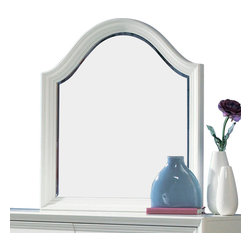 Lea Industries - Lea Elite Zoe Vertical/Landscape Mirror in White - The Zoe collection is a part of the Lea Elite family and offers a transitional style with simple shapes and versatile designs for any room setting. Painted in a bright white finish, this collection features recessed, polished nickel hardware, framed drawer fronts, bun feet, shaped pilasters and gentle curves that create a contemporary, feminine feel. This collection of white bedroom furniture is suitable for juvenile, teen and smaller master bedrooms. With roots that stretch all the way back to 1869, Lea Industries has been adding its signature style and design to homes around the United States for more than a century. Children's furniture makes up the cornerstone of this topnotch manufacturer's lineup, and Lea has always managed to produce functional, modern - yet sophisticated - furniture for children. Furniture that bears the Lea name is always high quality, versatile and attractive.