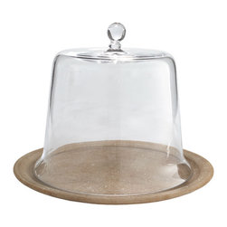 Glass Cloche - Cylinder - Wisteria's fine tableware selection includes many elegant kitchen & dining room glass accents including this square glass cloche.