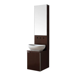 Avanity - Cube 16-inch Vanity Combo - Boxed set. This cube combo gives a whole new meaning to the words, form and function. It combines a sink, storage cabinet and mirror in one compact unit. It's the perfect fit if your bath is a little tight on space, too.