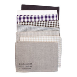 Linen Kitchen Cloths - Kitchen cloths wipe up my messes in bold, beautiful style.