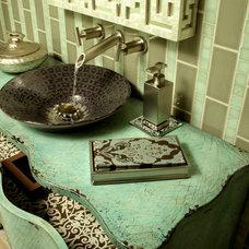 Asian Powder Room by Marlene Oliphant Designs LLC