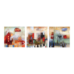 READY2HANGART.COM - Ready2hangart Alexis Bueno Abstract (3-PC) Canvas Wall Art Set - This abstract canvas art set is the perfect addition to any contemporary space. It is fully finished, arriving ready to hang on the wall of your choice.