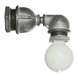 ParrotUncle - Upcycled Stylish Industrial Iron Pipe Wall Sconces - This upcycled stylish industrial pipe wall sconce is an amazing creation that will surely attract your guests' attention and instantly start the conversation. This lamp doesn't hide it's light under a shade, which enables it to give off a direct and original light to brighten up the room. It is the ultimate industrial lighting option that suitable for loft space, bar/pub, cafe or man cave.