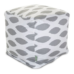 Majestic Home - Indoor Storm Gray Alli Small Cube - Here's an idea that's cool, cubed! An update on the beanbag, this piece serves as a footstool, side table or totally comfy seat, so it's a stylish, versatile addition to your favorite casual setting. And talk about easy care: Just unzip the slip and toss in the wash.