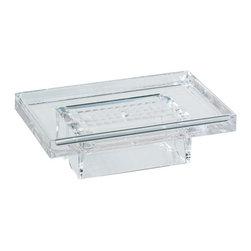 Modo Bath - Lem K830T Wall Soap Holder in Transparent - Lem K830T, 5.7 x 3.5 x H 1.8, Wall Soap Holder, in Transparent