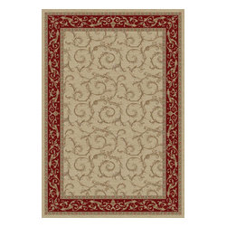 Brilliance 2934 Ivory Area Rug - 7 ft 10 in x 9 ft 10 in - Machine made of 100% polypropylene, the Brilliance Collection is an exceptional value and adds a sense of sophistication to any room.