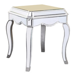Elegant Lighting - Elegant Lighting MF3-2001SC Camille Tables in Silver and Clear Mirror - This Table from the Camille collection by Elegant Lighting will enhance your home with a perfect mix of form and function. The features include a Silver and Clear Mirror finish applied by experts. This item qualifies for free shipping!