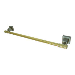 Kingston Brass - 18in. Towel Bar - Kingston Brass' bathroom accessories are built for long-lasting durability and reliability. They are designed so you can easily coordinate matching pieces. Each piece is part of a collection that includes everything you need to complete your bathroom decor. All mounting hardware is included and installation is easy.
