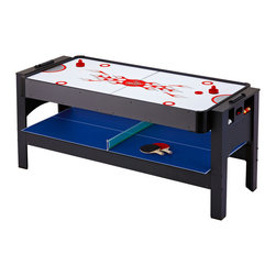 Blue Wave - Blue Wave 6' 3-In-1 Flip Table - Multigame 1