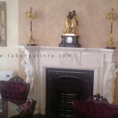 Marble Fireplace,Queen -