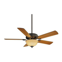 Savoy House - Savoy House Barbour Island Ceiling Fan in English Bronze - Savoy House Barbour Island Model SV-52-SGB-5RV-13 in English Bronze with Reversible Walnut/Teak Finished Blades.