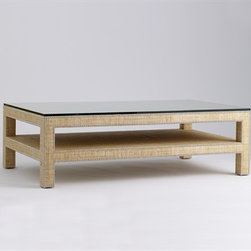 Manhattan Coffee Table by Jan Showers - This lovely coffee table will add natural texture and a shelf for extra storage to  your living or family room.