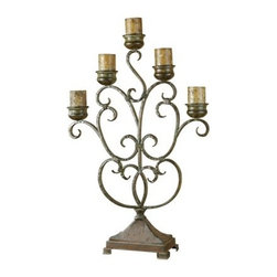 Uttermost - Uttermost 20808 Juliana Five Arm Metal Candelabra - Uttermost 20808 Billy Moon Juliana CandelabraThis hand forged metal candelabra features a finish of orange rust and olive bronze. Antiqued candles included.Features: