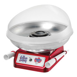 Waring Pro - Waring Pro Professional 360-Watt Cotton Candy Maker - Turn your kitchen into a carnival. This cool device spins up delightfully fluffy cotton candy (two reusable BPA-free serving cones included) to make your place the ultimate fun house.