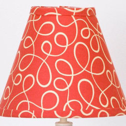 Cotton Tale Designs - Peggy Sue Lamp Shade - A quality baby bedding set is essential in making your nursery warm and inviting. All Cotton Tale patterns are made using the finest quality materials and are uniquely designed to create an elegant and sophisticated nursery. Peggy Sue shade is red trim fabric with bias finish. The measurements are 8 x 9 x 4. Made in the USA.