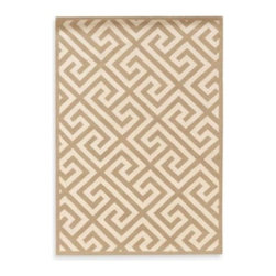 Linon Home - Linon Greek Key Rug in Beige/White - A simple geometric motif lends timeless style with the Linon Silhouette rug. The classic Greek key pattern gets a modern color update in white and beige to create a dynamic focal point in any room.