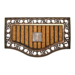 A1 Home Collections - Elegant Rubber and Coir Doormat - Accent your doorway with this ultra chic and stylish doormat.Crafted of all natural rubber and coir this mat is an excellent decorative accent for your doorway and it also help remove dirt, debris, mud and moisture from your shoes.