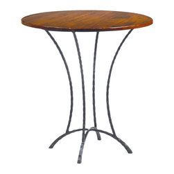 Charleston Forge - Charleston Forge Hudson Wood Round Pub Table - Add instant character to your home with the Hudson Wood Round Pub Table from Charleston Forge. This counter-height pub table features a textured-steel base with gentle curves. The ruggedness of the frame contrasts perfectly with the warm, maple-wood top. Set it up in a bar area or a cozy dining nook for a timeless, old-world feel. Now that's character!Handmade to order in the USAThis special-order item is just that: made especially for you. We unfortunately cannot accept returns on custom merchandise