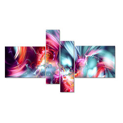 "Take Me Over - Oversized Canvas Wall Art - 60 x 36 - 4 Panels - This stunning ""Take Me Over""  artwork design is printed in high quality fade resistant ink on premium quality cotton canvas. This abstract design is sure to be the center piece of any room it is placed in. All of our graphic canvas prints are gallery wrapped around solid wood subframes, carefully packaged and arrive to you, ready to hang on the wall. Our printing technology allows for a crisp, deep canvas print which is  never pixelated."