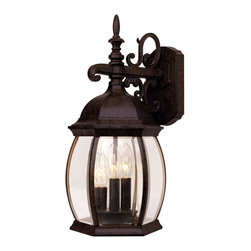 Savoy House - Savoy House 5-1650-72 Exterior Collections Wall Mount Lantern - Decorate your favorite outdoor spaces to bring a sense of style Al Fresco! Rustic Bronze finish with Clear Beveled glass.
