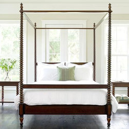 Beacon Hill Spool Post Convertible Canopy Bed - Introducing the Beacon Hill spool post bed! This new bed charmed us with it's impressive options to convert into a classic high poster bed or a low post bed! Featuring exquisite craftsmanship, quality solid hardwood and superb luxury finish options. Each bed comes with multiple finials so this bed can work with you and change as you use it.  The Beacon Hill bed ships a in a classic plantation mahogany finish or can be custom made in a beautiful painted finish. This bed will be the focal point of your bedroom's design and a treasured piece in your family's collection for many years to come. MSRP 2,900, INtro Sale price $2,420.  IN STOCK!  GET FOR THE HOLIDAYS