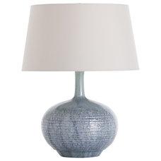 Arteriors Cumberland Sky Blue Reactive Glaze Porcelain Lamp