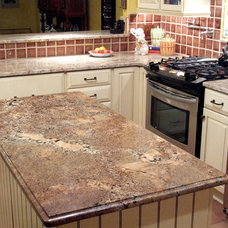 Traditional Kitchen Cabinets by Granite Countertops by Mogastone