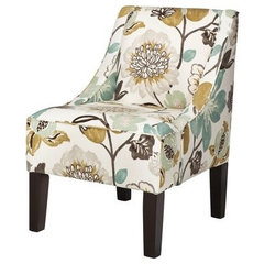 Swoop Upholstered Accent Chair - Georgeous Pearl : Target