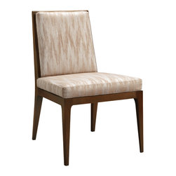 Baker Furniture - Carmel Upholstered Dining Side Chair - Easy elegance defines the Carmel Upholstered Dining Side Chair.
