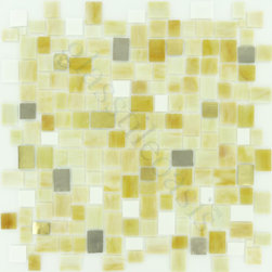 "Glass Tile Oasis - Oak Unique Shapes Cream/Beige Melange Jolie Glossy Glass - Sheet size:  Approx 1.10 Sq. Ft.        Tile Size:  Unique Shapes        Tiles per sheet:  252        Tile thickness:  1/8""        Grout Joints:  1/8""        Sheet Mount:  Mesh Backed        Some Victorian colors contain Silver and/or Gold Metal pieces that may react/discolor over time if exposed to pool chemicals.    Sold by the sheet     -  Bring bold  dazzling style to any space with Victorian  a collection made from vibrant stained glass. This series stands out for its beautiful patterns and meticulous attention to detail. The mesh-backed tiles come in varying sizes depending on the design  and they are suitable for variety of interior and outdoor spaces."