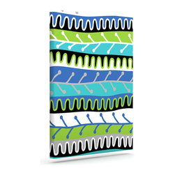 """Kess InHouse - Jacqueline Milton """"Salsa - Blue"""" Aqua Green Wrapped Art Canvas (24"""" x 20"""") - Bring your outdoor patio to life with this artistic outdoor canvas wrap featuring gorgeous artwork by KESS InHouse. These canvases are not only easy to hang and remove but also are the perfect addition to your patio collection. These canvases are stretched around a wooden frame and are built to withstand the elements and still look artistically fabulous. Decorating your patio and walls with these prints will add the splash of art and color that is needed to bring your patio collection together! With so many size options and artwork to choose from, there is no way to go wrong with these KESS Canvas Wraps!"""