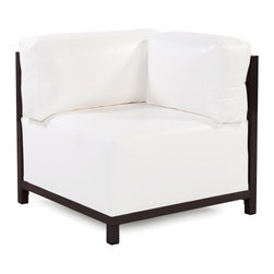 Howard Elliott - Howard Elliott Atlantis White Axis Corner Chair Slipcover - Axis corner chair Atlantis white slipcover