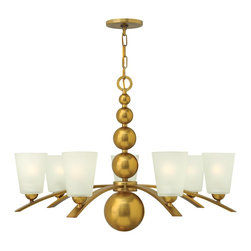 Hinkley Lighting - Hinkley Lighting Zelda Modern/ Contemporary Chandelier X-SV6443 - Zeldas striking mid-century silhouette features four spheres that increase in size as they descend from the top loop creating an elegant seamless center column.
